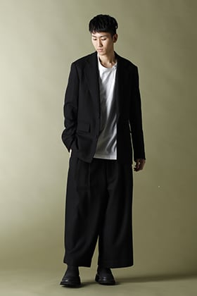 Ground Y - グラウンドワイ【Wool Flannel Jacket & Wide pants】Set-up Style