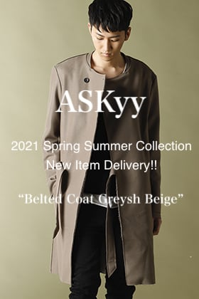 ASKYY 2021SS Collection New Item【Belted Coat Greysh Beige】