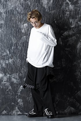 Yohji Yamamoto 21SS A Style With Front Cover Gabardine Pants