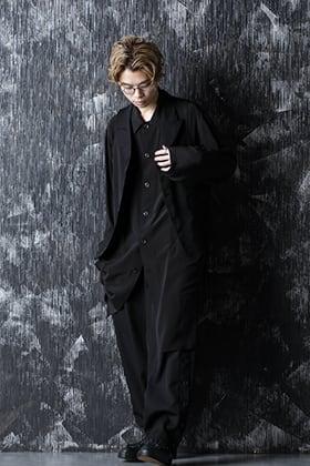 Yohji Yamamoto 21SS ロングブラウスとジレを合わせたスタイル