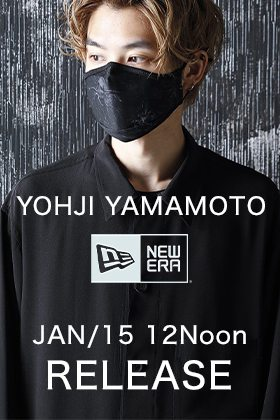 Yohji Yamamoto × New Era Skull & Rose Mask go on sale on Friday, January 15th(Japan Time)!