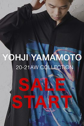 ただいまからYohji Yamamoto(ヨウジヤマモト)  セールスタートです!