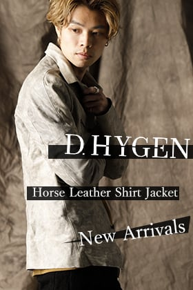 D.HYGEN horse leather shirt jacket is now in stock.