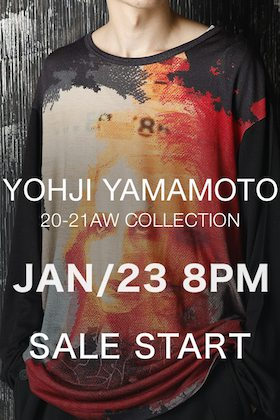 Yohji Yamamoto Sale starts on Friday, 23th of January!!