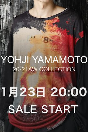 Yohji Yamamoto(ヨウジヤマモト)  1月23日(金) からセールスタート!!
