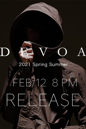 DEVOA 2021 SS collection will be on sale from February 12th at 8PM(JST).