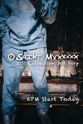 ©️SAINT M×××××× 21 SS Collection 3rd Drop on 19th of Feb starting 6am JPT!