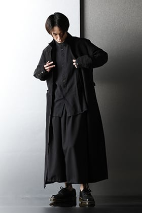 kujaku × Ground Y 2021SS Loose silhouette Black styling