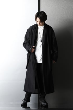 kujaku - クジャク Long Coat & Cardigan Layered styling