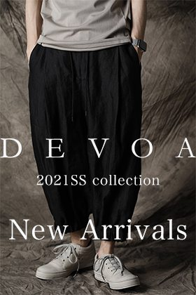 The new item of DEVOA 2021SS is now on sale.