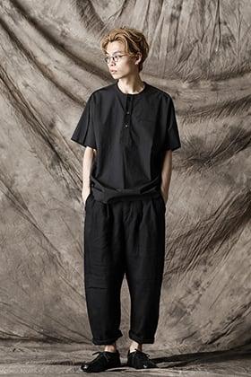 individual sentiments 21SS ヘンリーネックシャツスタイル
