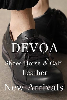 New Arrivals from DEVOA 21SS Shoes Horse & Calf Leather.