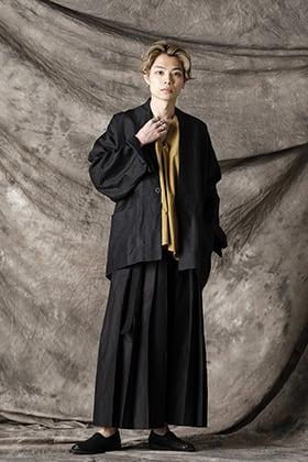 JAN-JAN VAN ESSCHE 21SS Anthracite Ramie Linen Twill Jacket Style