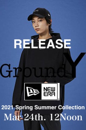 Ground Y × New Era  2021SS Collection ill go on sale on March 24th at 12 noon!