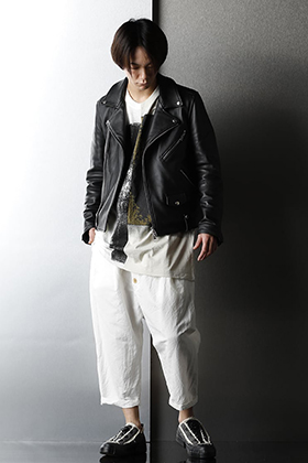 GalaabenD - ガラアーベント Leather jacket Monotone A-line silhouette style