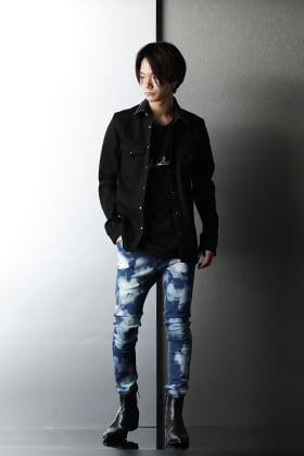 GalaabenD 2021SS Casual color Bleach JUSTIN Denim Pants Styling