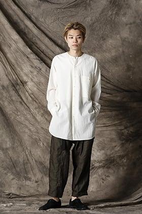 UMA WANG 21SS  ノーカラーシャツスタイル