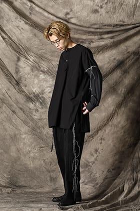 DUELLUM 21SS Paneled Henry Neck Shirt Style