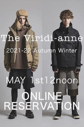 The Viridi-anne 21 -22 AW online reservation starts at 1st of May 12noon!