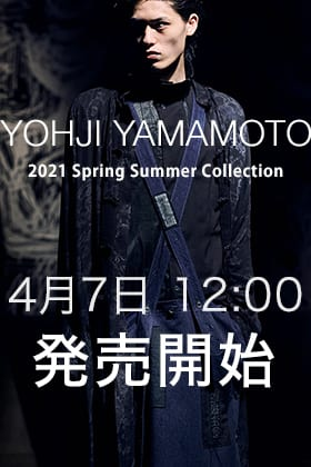 Yohji Yamamoto(ヨウジヤマモト) 21SS F納期 商品の販売を4月7日12:00より開始いたします!