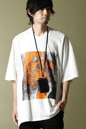 JULIUS 2021SS Print T-shirt street Style