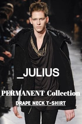 Introducing「Drape Neck T-Shirt」from JULIUS Permanent Line.