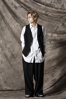 Yohji Yamamoto 21SS ピークトラペルベストスタイル
