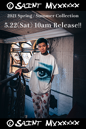 ©️SAINT M×××××× 2021SS Collection The new clothing items 5/22 (Sat) will be on sale from 10am!