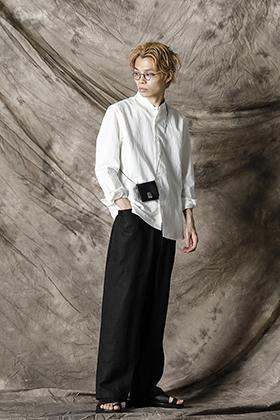 Yamauchi 21SS Salt shrink processing No Collar Shirt Style