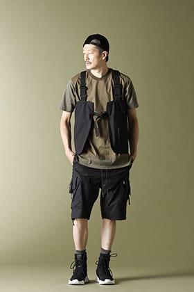 RIPVANWINKLE Leather Cap Layered T Style