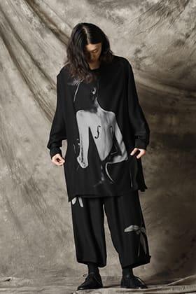 Yohji Yamamoto 21-22AW シルクブラウス スタイル