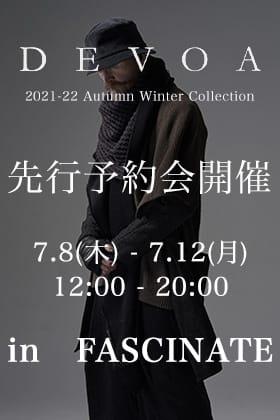 DEVOA 2021-22AW(秋冬)コレクション先行予約会開催 in FASCINATE
