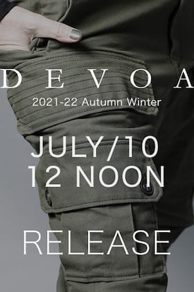 DEVOA 2021-22 AW will be on sale from July 10 at 12 noon!