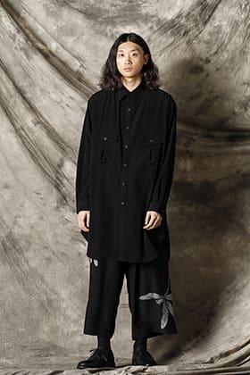 Yohji Yamamoto 21-22AW ラウンドヘム ブラウス スタイル