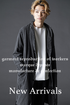 GARMENT REPRODUCTION OF WORKERS 21-22AW(秋冬)から最初の入荷がありました。