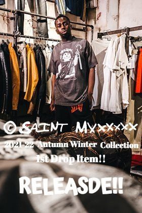 From now SAINT MICHAEL 2021-22 Autumn and Winter Collection 1st Drop Items will be sold at our online site and stores at the same time!!
