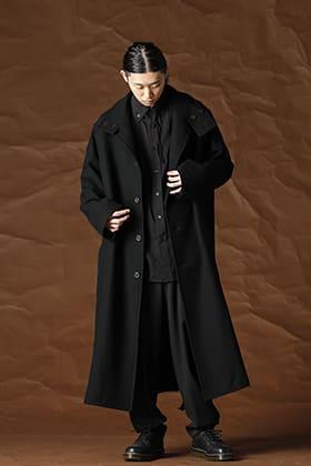 Yohji Yamamoto 21-22AW  ウールフラノ コート スタイル