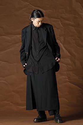Yohji Yamamoto 21-22AW シワギャバジンセットアップスタイル