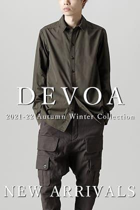 DEVOA(デヴォア) 21-22AW(秋冬)コレクションから最初の入荷がありました。
