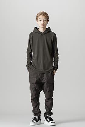 DEVOA 21-22AW Pullover Hoodie Cotton Jersey Styling