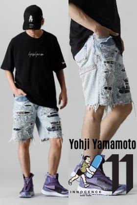 Yohji Yamamoto × INNOCENCE NY 2021SS ダメージショーツ サマースタイリング
