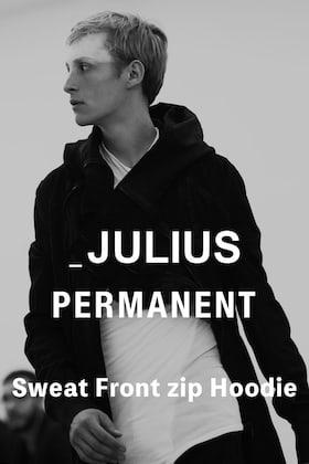 JULIUS(ユリウス) パーマネントライン 21-22AW フロントジップ スウェットパーカーのご紹介
