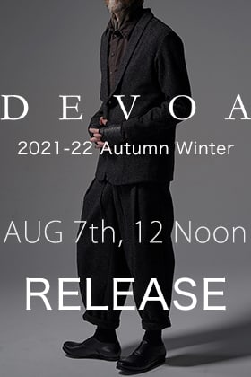 DEVOA 2021-22 AW Collection will be on sale August 7th at 12 noon!