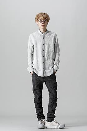 D.HYGEN(ディー ハイゲン) 21-22AW バンドカラーシャツとツイストスリムパンツ