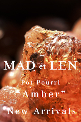 Amber potpourri from MAD et LEN is now in stock