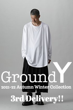 Now in stock is the 3rd edition from the Fall and Winter collection Ground Y 2021-22 !!