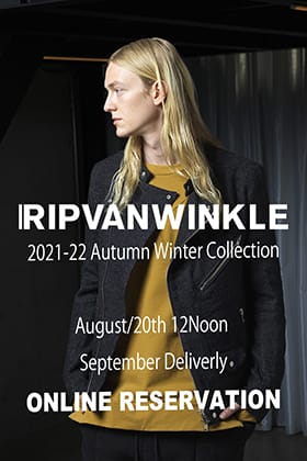 We are now accepting pre-orders for RIPVANWINKLE 2021 -22 AW Collection September delivery!