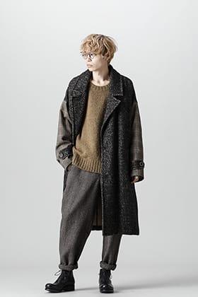 UMA WANG 21-22 AW Oversize Tweed Coat Style