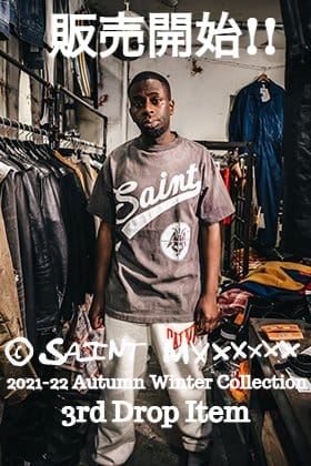 From now on, SAINT MICHAEL 2021 fall and winter -22 collection 3rd Drop items will be sold at the same time in mail order and stores!!