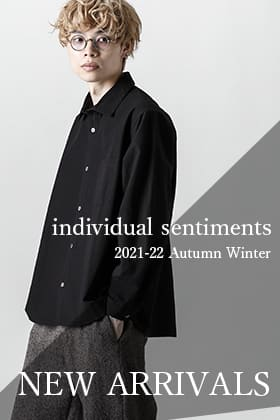 21-22 AW collection 1st drop has arrived from individual sentiments!